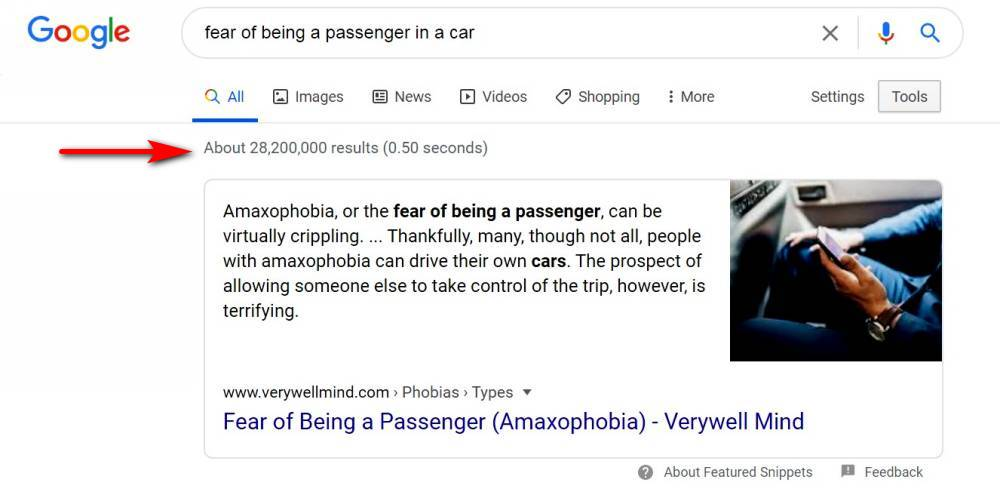 fear of being a passenger in a car search results